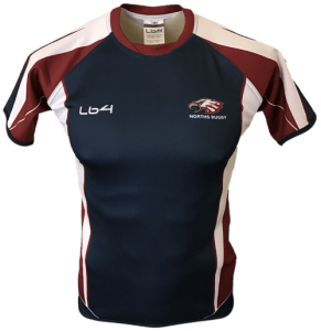 Navy Color Norths Rugby Team Jersey