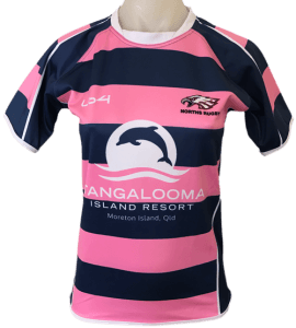 Green Color Norths Rugby Team Jersey